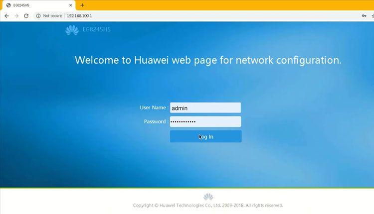 halaman login indihome modem huawei